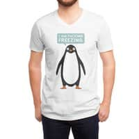 Talking Penguin - vneck - small view