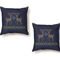 Cross Threaded - throw-pillow - small view