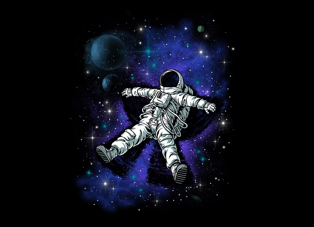 Space In Art And Design : Astronaut s snow angel by ben chen threadless