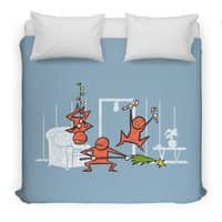Santa's Silent Helpers - duvet-cover - small view
