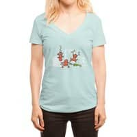 Santa's Silent Helpers - womens-deep-v-neck - small view