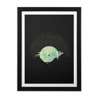 Soundtrack to a Peaceful Night - black-vertical-framed-print - small view