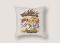 A King in Every Corner - throw-pillow - small view