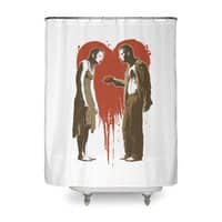 Zombie Romance - shower-curtain - small view