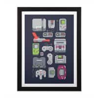 A Pixel of My Childhood - black-vertical-framed-print - small view