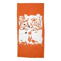 The Lonely Fox - beach-towel - small view