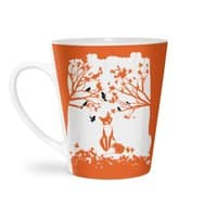 The Lonely Fox - latte-mug - small view