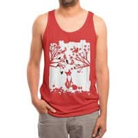 The Lonely Fox - mens-triblend-tank - small view