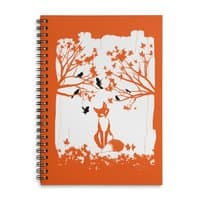 The Lonely Fox - spiral-notebook - small view