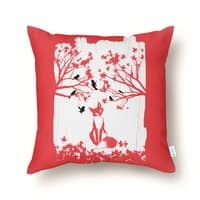 The Lonely Fox - throw-pillow - small view