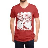 The Lonely Fox - vneck - small view