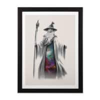 The Grey Wizard - black-vertical-framed-print - small view