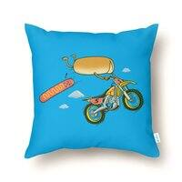 Motocross Accident - throw-pillow - small view