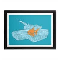Fish Tank - black-horizontal-framed-print - small view