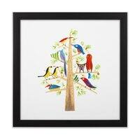 The Perch Party - black-square-framed-print - small view