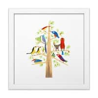 The Perch Party - white-square-framed-print - small view