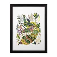 Cosmic Peacock - black-vertical-framed-print - small view