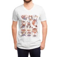 Owl Party - vneck - small view