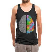 A Brain of Two Halves - mens-triblend-tank - small view
