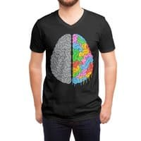 A Brain of Two Halves - vneck - small view
