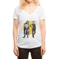 A Bat and a Cat - womens-deep-v-neck - small view