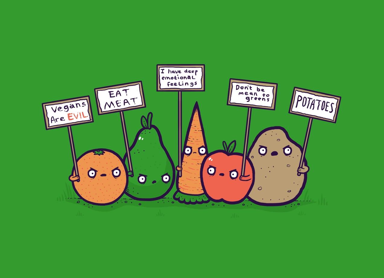 hate vegans threadless