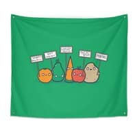 I Hate Vegans - indoor-wall-tapestry - small view