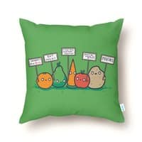 I Hate Vegans - throw-pillow - small view