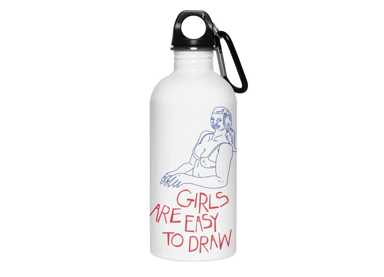 Girls are easy to draw water bottle small view