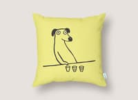 Dog Drunkard - throw-pillow - small view