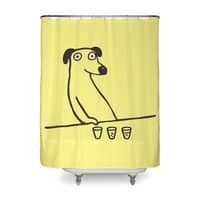 Dog Drunkard - shower-curtain - small view