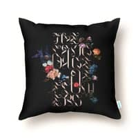The Language of Flowers - throw-pillow - small view