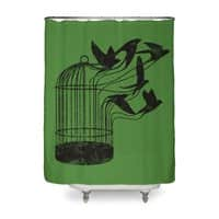 Breaking Through to Freedom - shower-curtain - small view