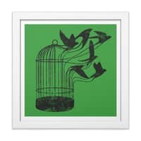 Breaking Through to Freedom - white-square-framed-print - small view