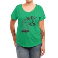 Breaking Through to Freedom - womens-dolman - small view