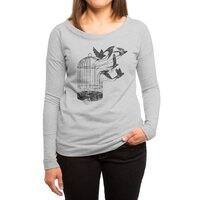 Breaking Through to Freedom - womens-long-sleeve-terry-scoop - small view