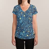 Starry Pattern - womens-sublimated-v-neck - small view