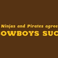 Ninjas and pirates agree: cowboys suck - small view