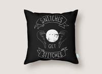 Snitches Get Stitches - throw-pillow - small view