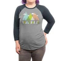 Wander - triblend-34-sleeve-raglan-tee - small view