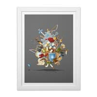 It's Dangerous to Go Alone! Take This - white-vertical-framed-print - small view