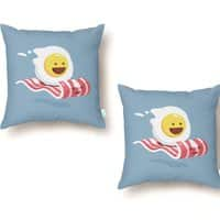 Magic Bacon Ride - throw-pillow - small view