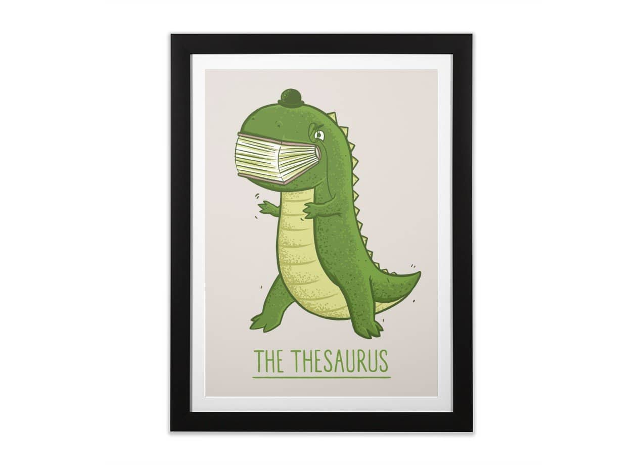 The Thesaurus by Darel Seow | Black Vertical Framed Print Threadless