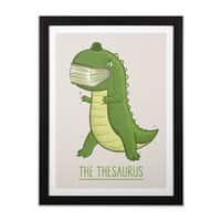 The Thesaurus - black-vertical-framed-print - small view