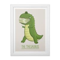 The Thesaurus - white-vertical-framed-print - small view