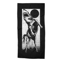The Great White Stallion - beach-towel - small view