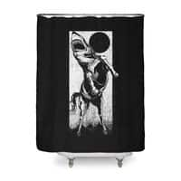 The Great White Stallion - shower-curtain - small view