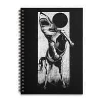 The Great White Stallion - spiral-notebook - small view