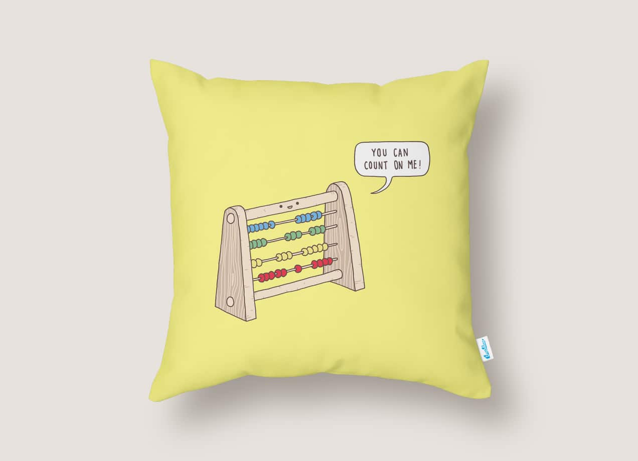 The Ever Reliable Abacus by Jaco Haasbroek   Throw Pillow Threadless
