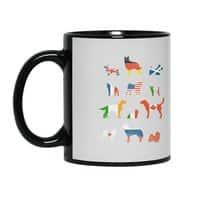 Many Nations Under Dog - black-mug - small view